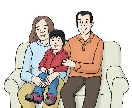 Familie mit Kind