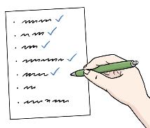 Liste abhaken