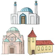 Verschiedene Kirchen