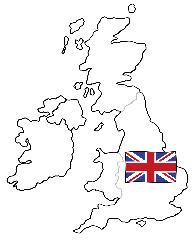 England-Karte
