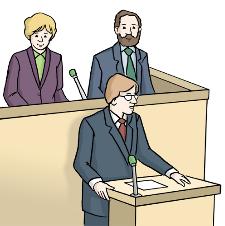 Redner im Parlament