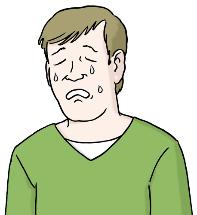 weinender Mann